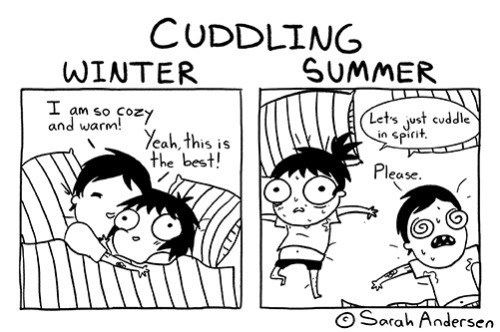 Cuddling Changes With The Seasons