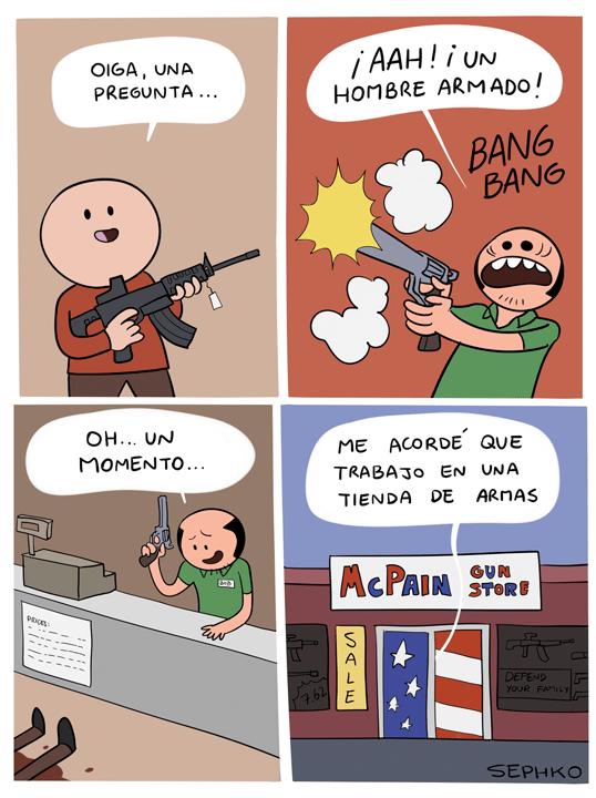 trabajo en tienda de armas