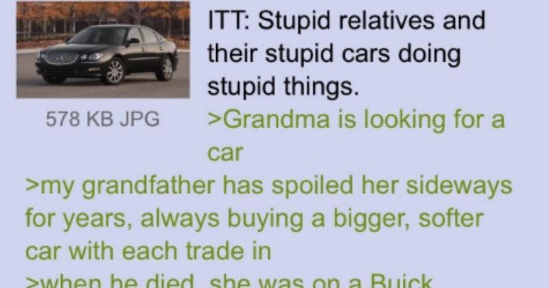 FAIL jokes gas grandma cars story family dumb funny stupid - 8560901