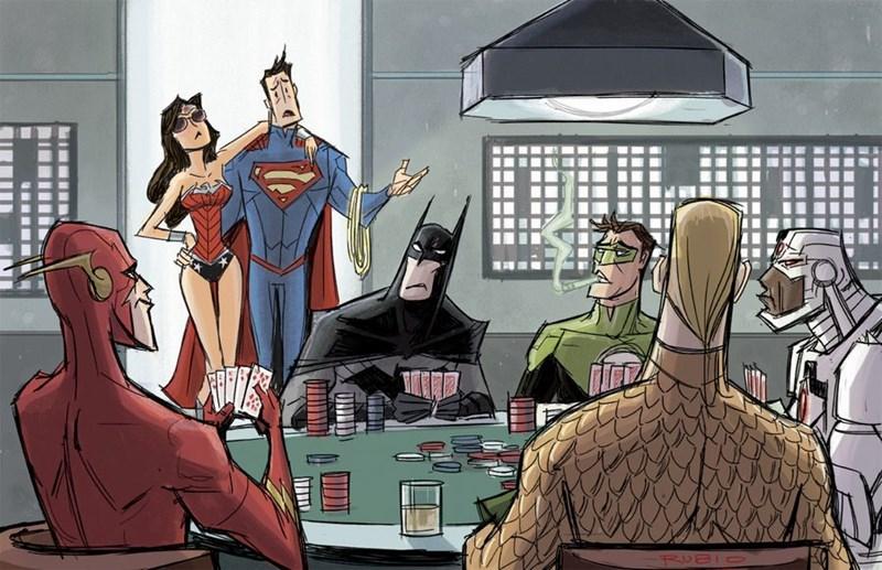 superheroes-superman-justice-league-dc-poke-night-art