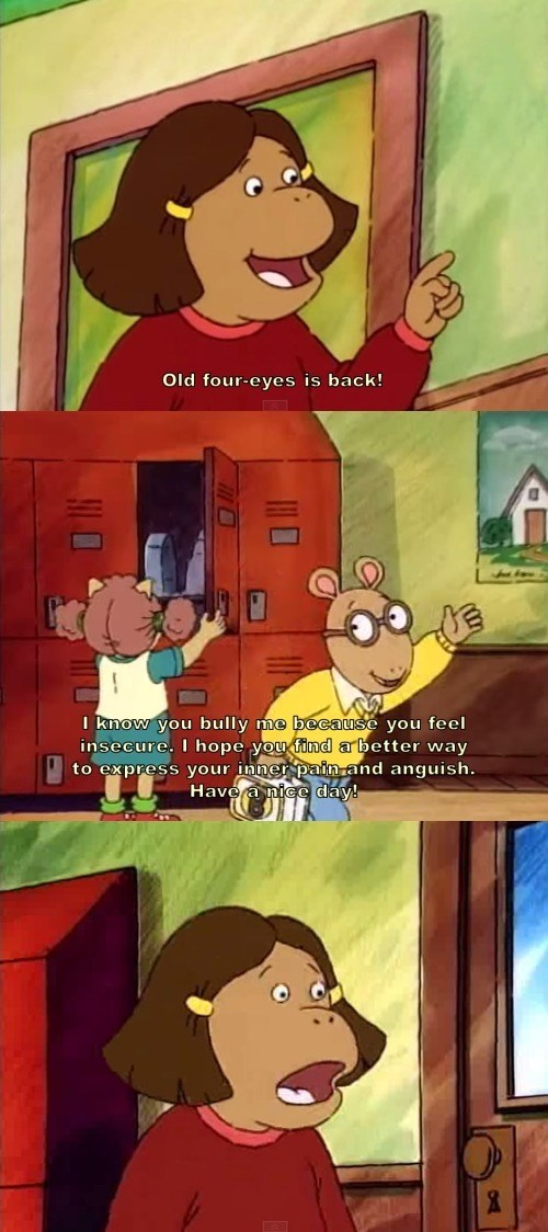 cartoon memes arthur insecure bully