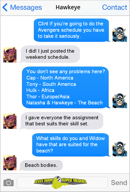 Beach Season is Over, Hawkeye