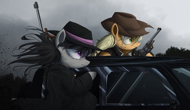 applejack,Fan Art,mafia,gangsters,octavia