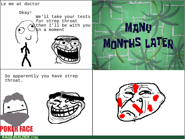 doctor poker face troll strep throat - 8561289216