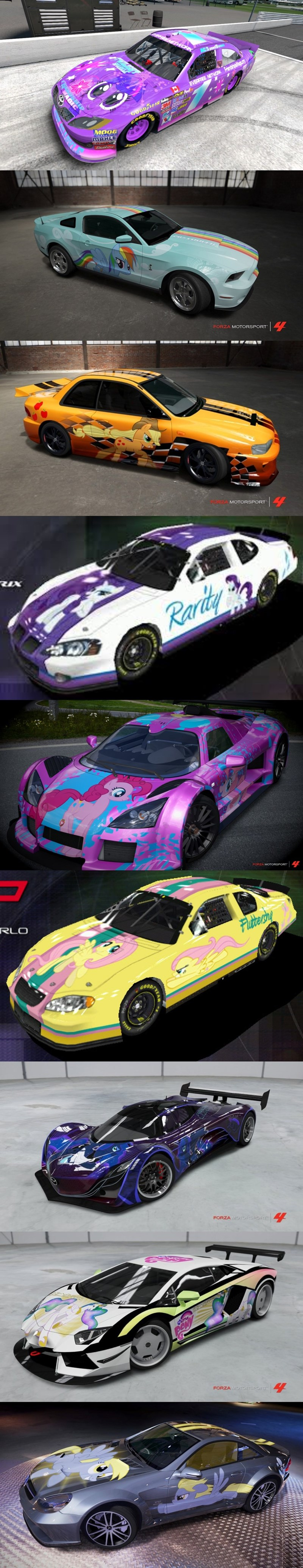 ponies,cars,MLP,paint job