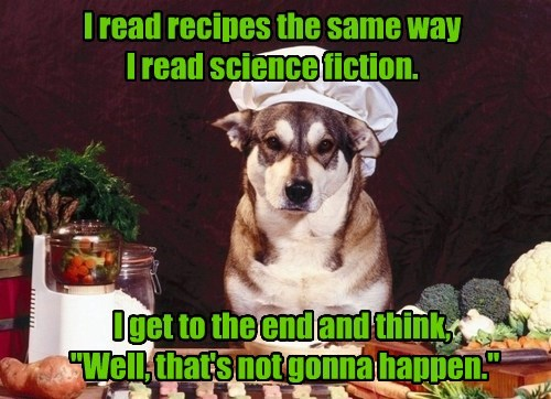 dogs,recipes,caption,science fiction