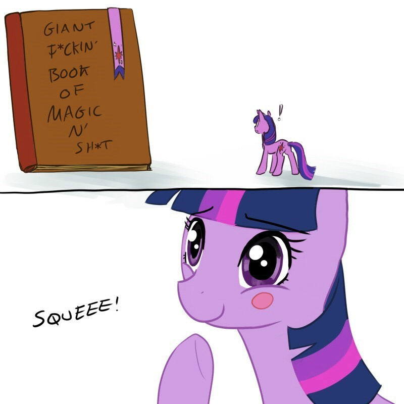 Joy,twilight sparkle,books,magic