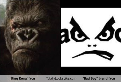 "King Kong' face Totally Looks Like ""Bad Boy"" brand face"