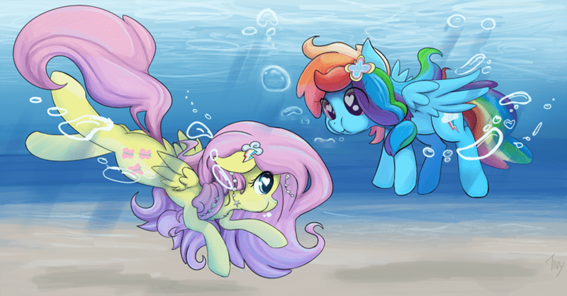 my-little-brony-pegasus-under-water-art