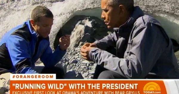 POTUS of the Day: President Obama Eats An Actual Bear's Leftovers With Bear Grylls