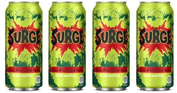 Comeback of the Day: Surge Soda Returns To Shelves