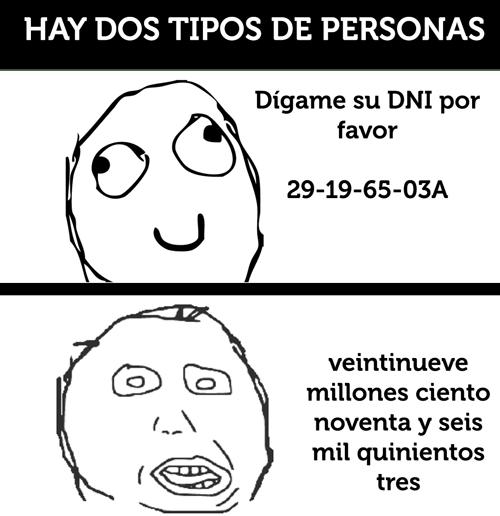 Dos tipos de personas