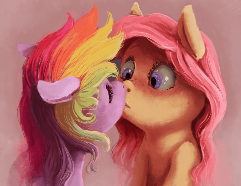 surprise,ship,fluttershy,rainbow dash