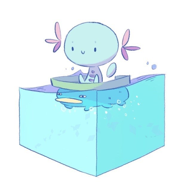 lotad Fan Art wooper - 8562912256