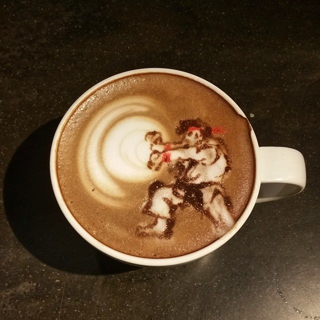hadouken,ryu,Street fighter,coffee