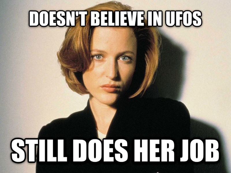 Chin - DOESN'T BELIEVE IN UFOS STILL DOES HER JOB