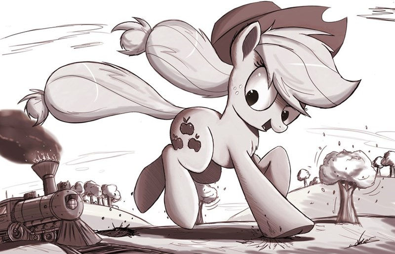 applejack art giant train - 8564015360