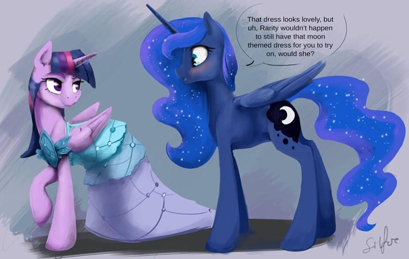 twilight sparkle princess dress princess luna ship - 8564624384