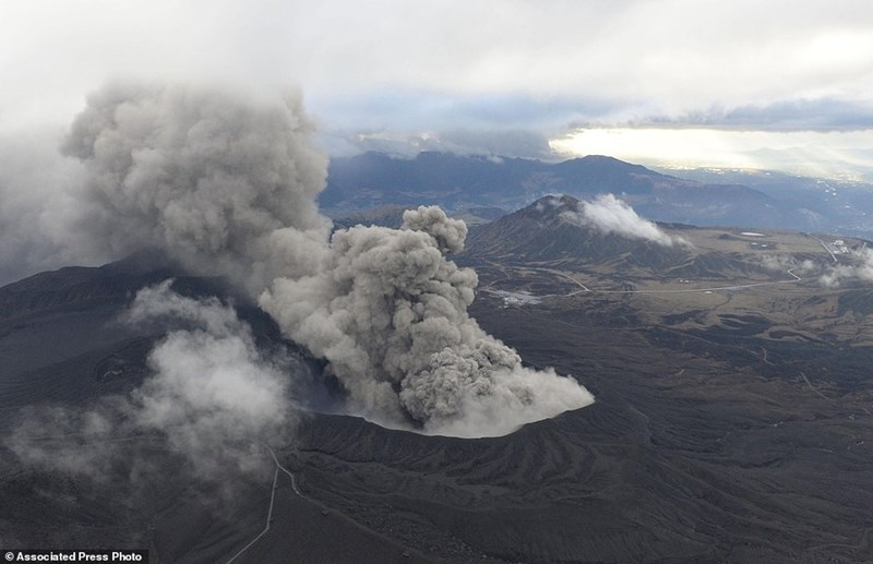 Japan's Mount Aso had a surprise eruption.