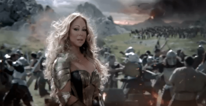 Mariah Carey takes the place of Kate Upton in this Game of War commercial.