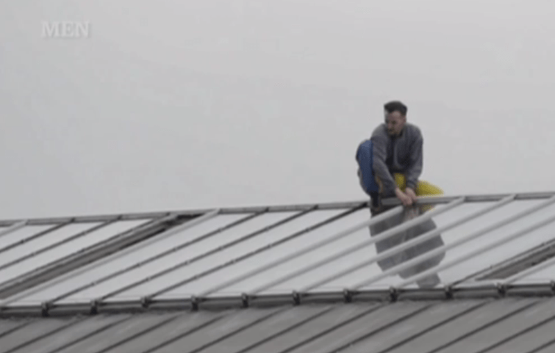 Manchester prisoner climbs to roof for protest, destruction time.