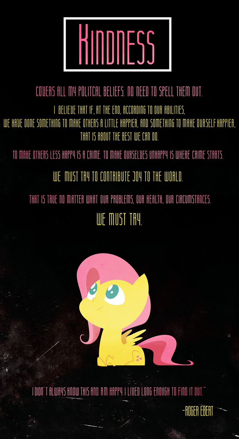 kindness,fluttershy,quote