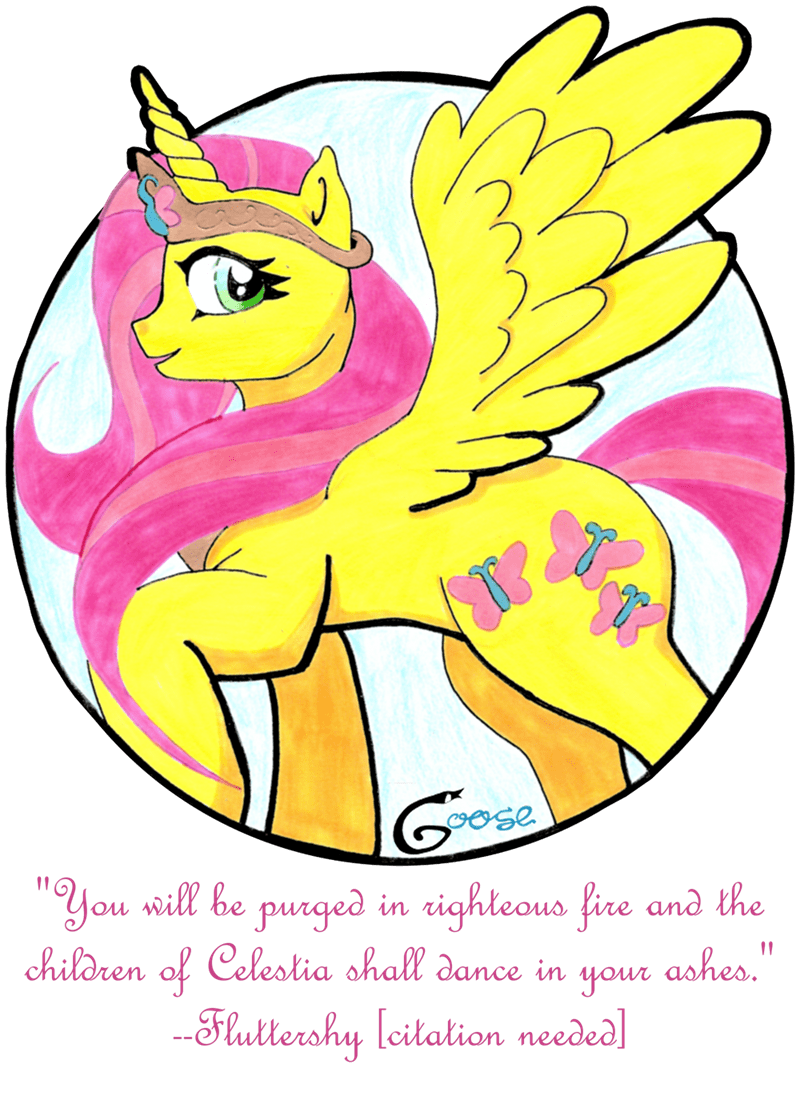 kindness alicorn princess fluttershy quote - 8565174272