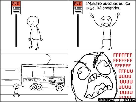 no llega el bus