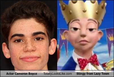 Actor Cameron Boyce Totally Looks Like Stingy From Lazy Town