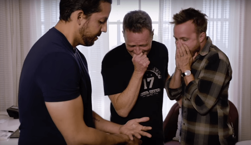 David Blaine performs a crazy trick for Bryan Cranston, Will Smith and Kanye West.