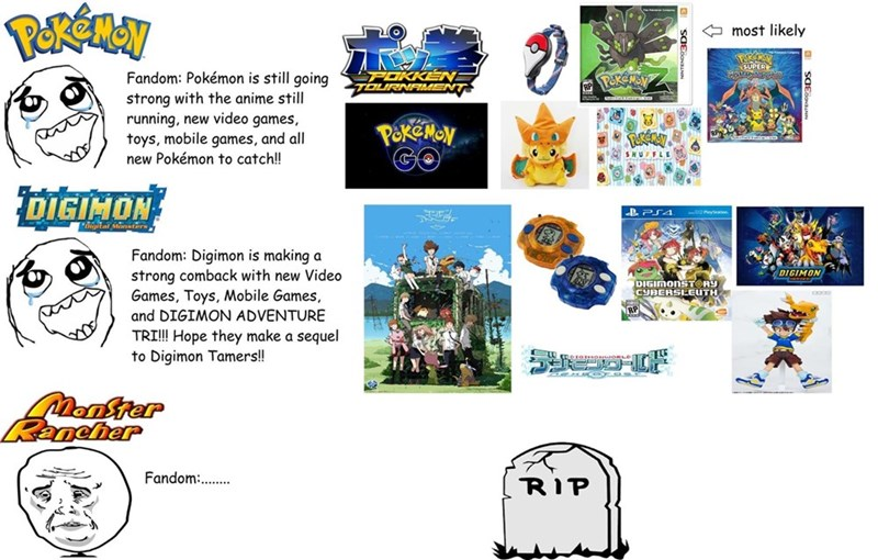 pokemon memes monster rancher fandom