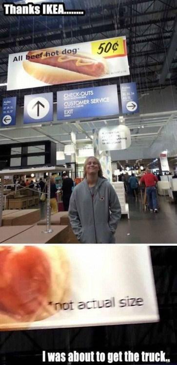 funny memes ikea hot dog size