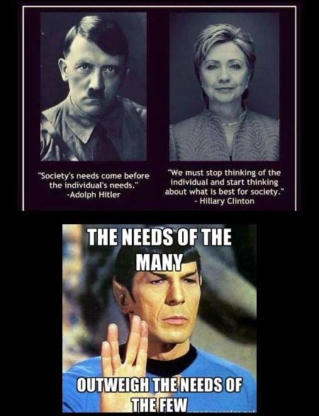 A nazi, a democrat, & a Vulcan walk into a bar