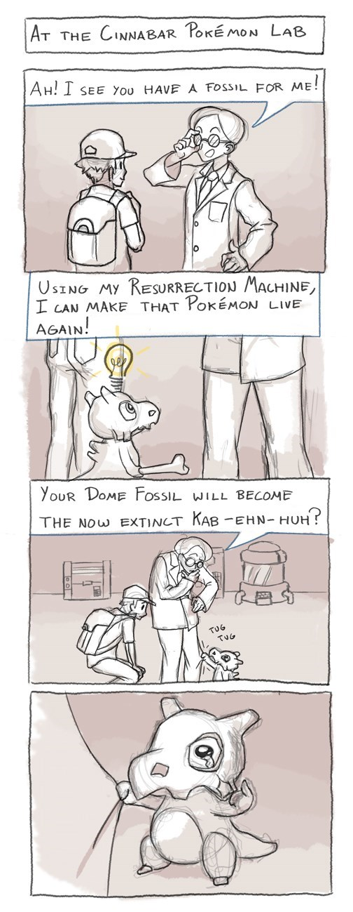 pokemon memes cubone fossil resurrection