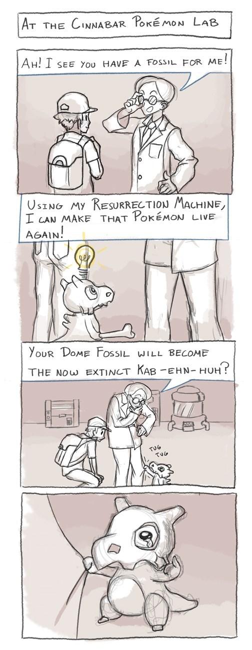 pokemon memes cubone fossil resurrection