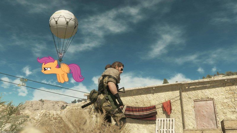 metal gear solid,Scootaloo,balloon
