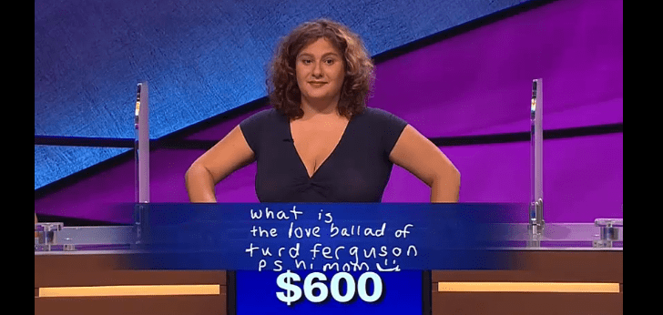 Alex Trebek said 'Turd Ferguson' on Jeopardy last night.