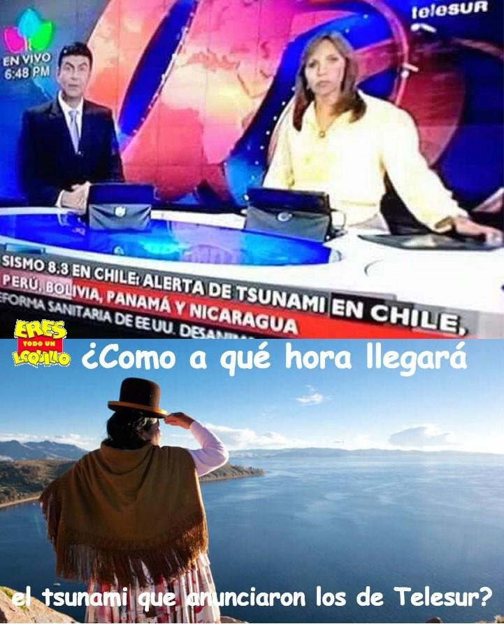 tsunami en bolivia