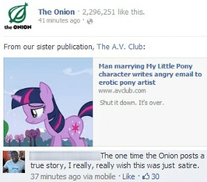 Bronies,my little pony,the onion