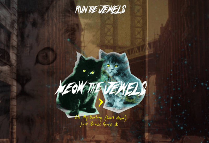 Run the Jewels releases a new Meow the Jewels cat remix song.