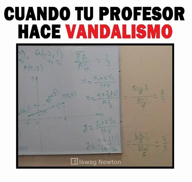 profesor vandalo