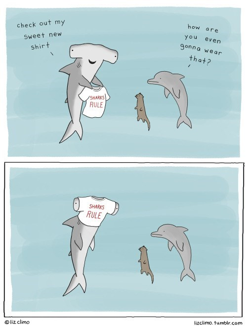 critters,otters,sharks,web comics