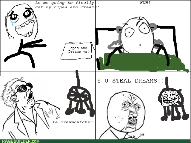 Y U NO hope dreams dream catcher great scott - 8566836736