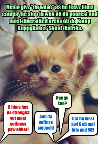 Nemo fur Klass President Campayne stop!