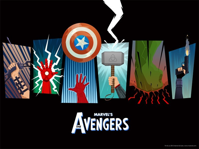 superheroes-avengers-marvel-team-hand-fan-art