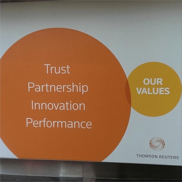 design fail of a venn diagram of a company's values