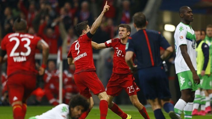 Poland soccer captain Robert Lewandowski scores five goals in fifteen minutes.