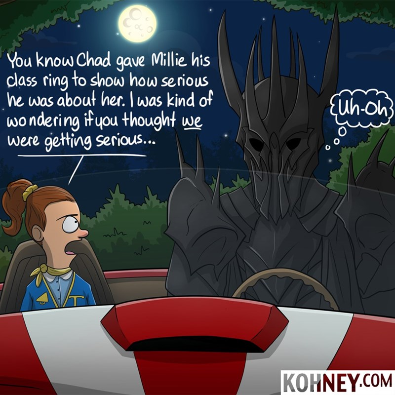 sauron Lord of the Rings cars dating web comics - 8568062464