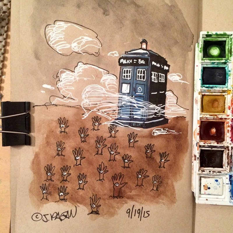 funny-doctor-who-tardis-hand-mine-water-color-painting