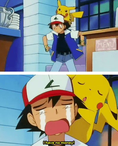 pokemon memes no money ash